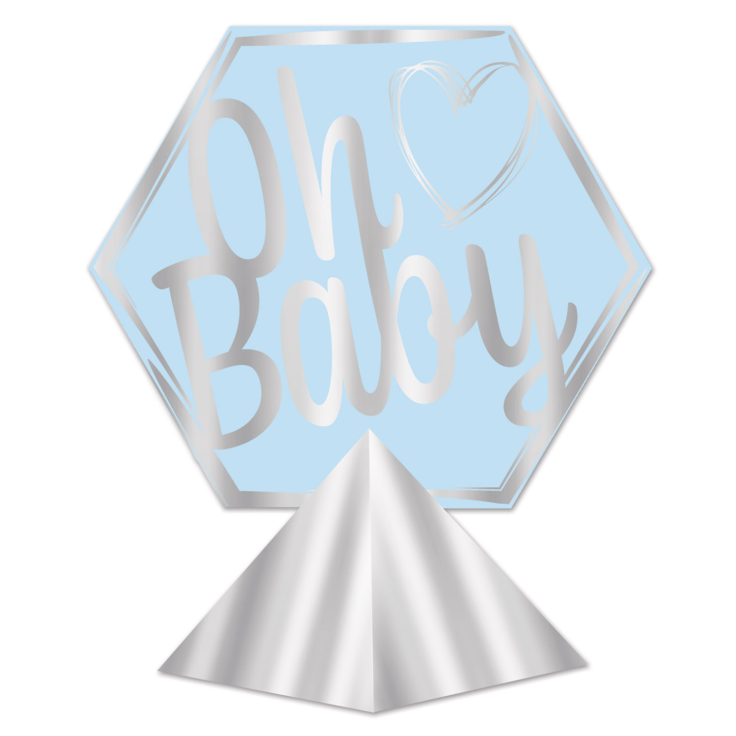 Image of 3-D FOIL OH BABY CENTERPIECE (12)