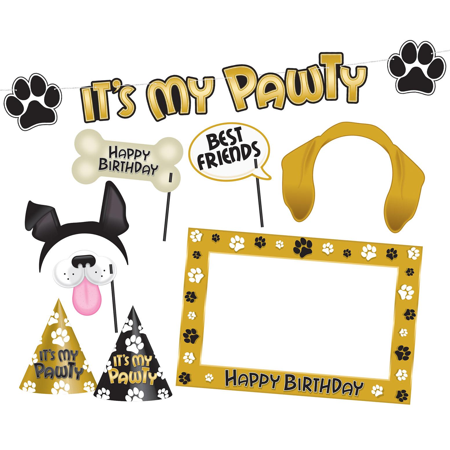 DOG BIRTHDAY PARTY KIT (12) image