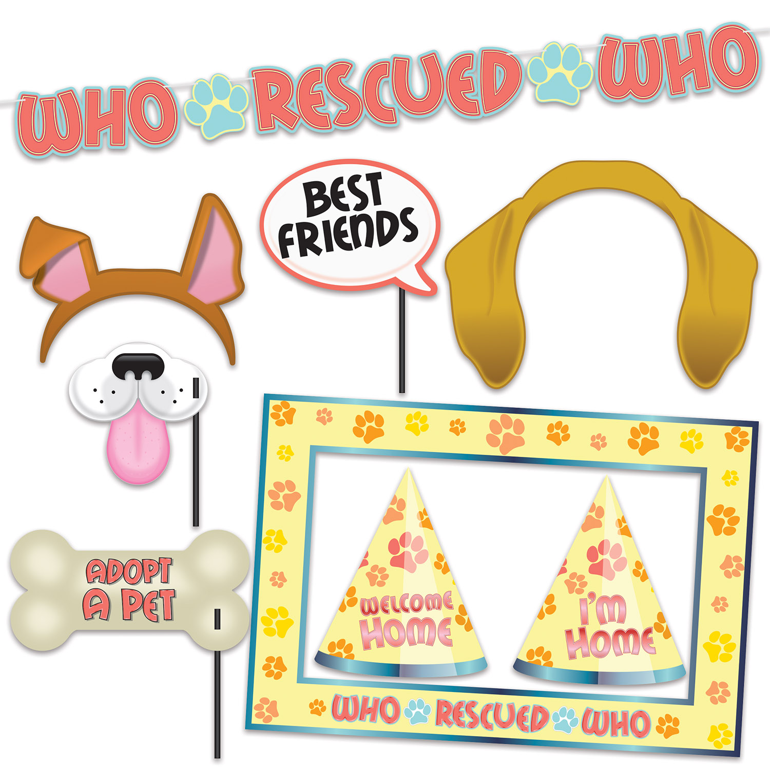 WHO RESCUED WHO PARTY KIT (12) image