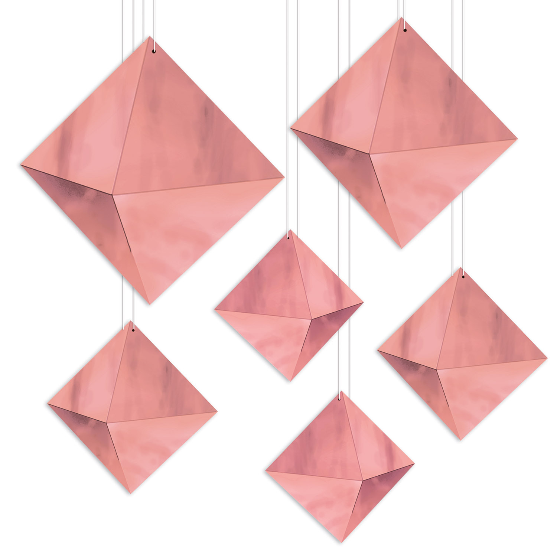 Image of 3-D FOIL DIAMONDS (12)