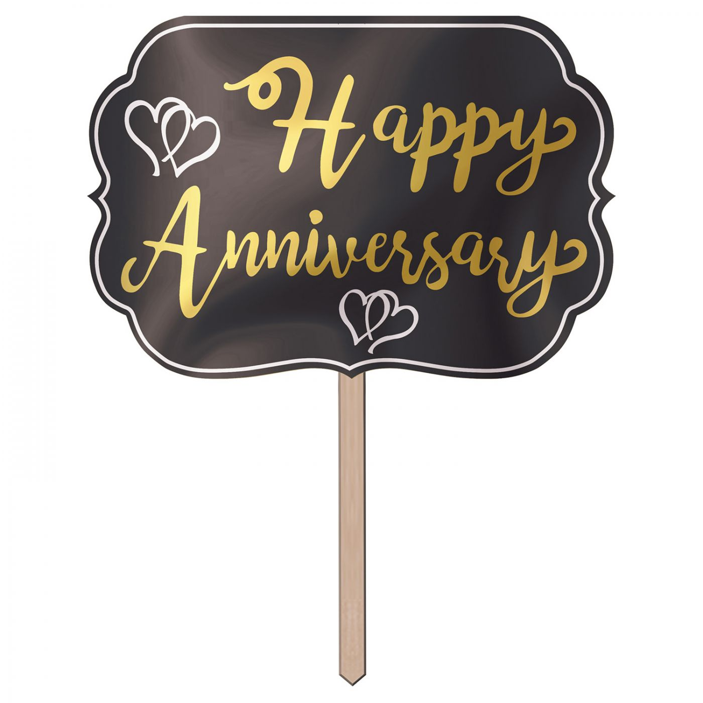 Foil Happy Anniversary Yard Sign image