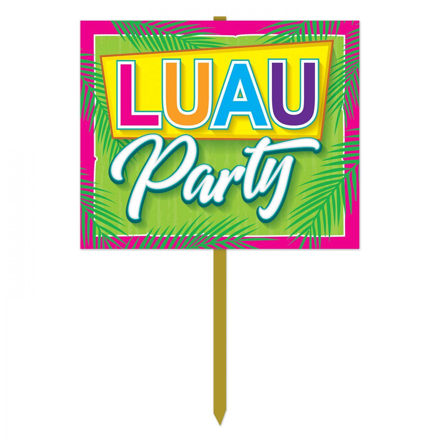 Luau Party Yard Sign image
