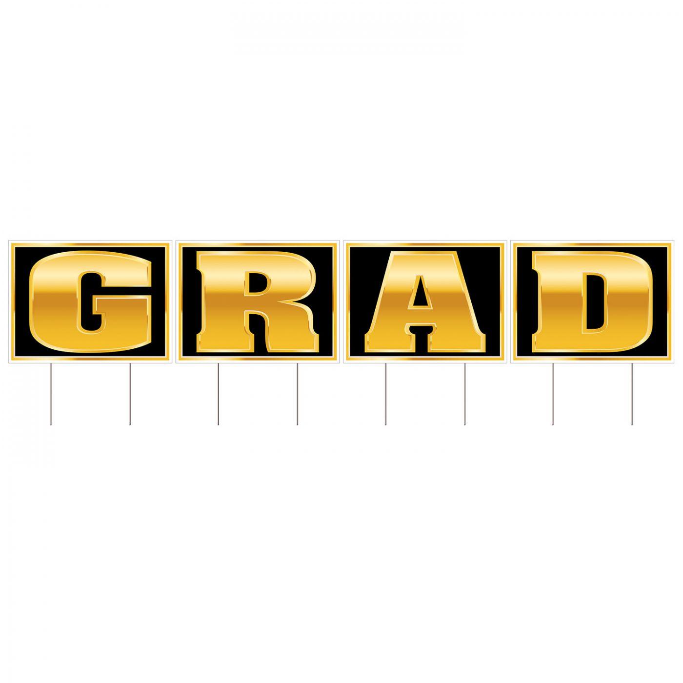 Plastic Grad Yard Sign image