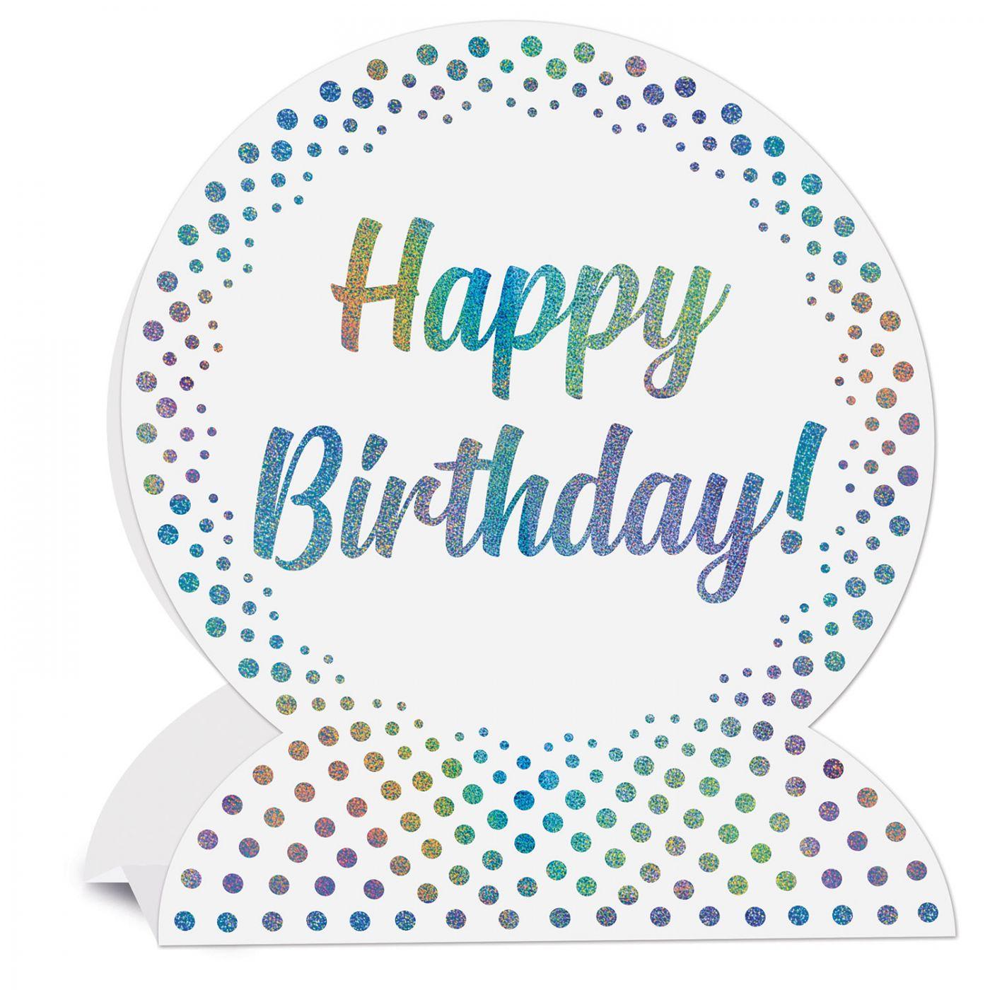 Image of 3-D Happy Birthday Centerpiece