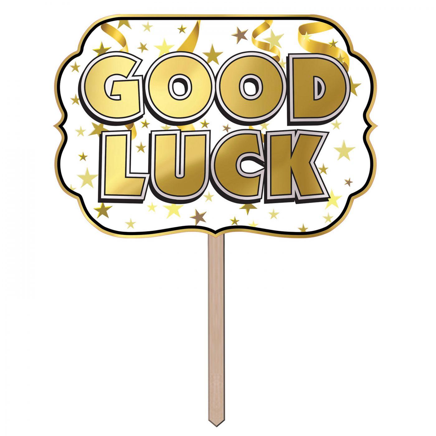 Foil Good Luck Yard Sign image