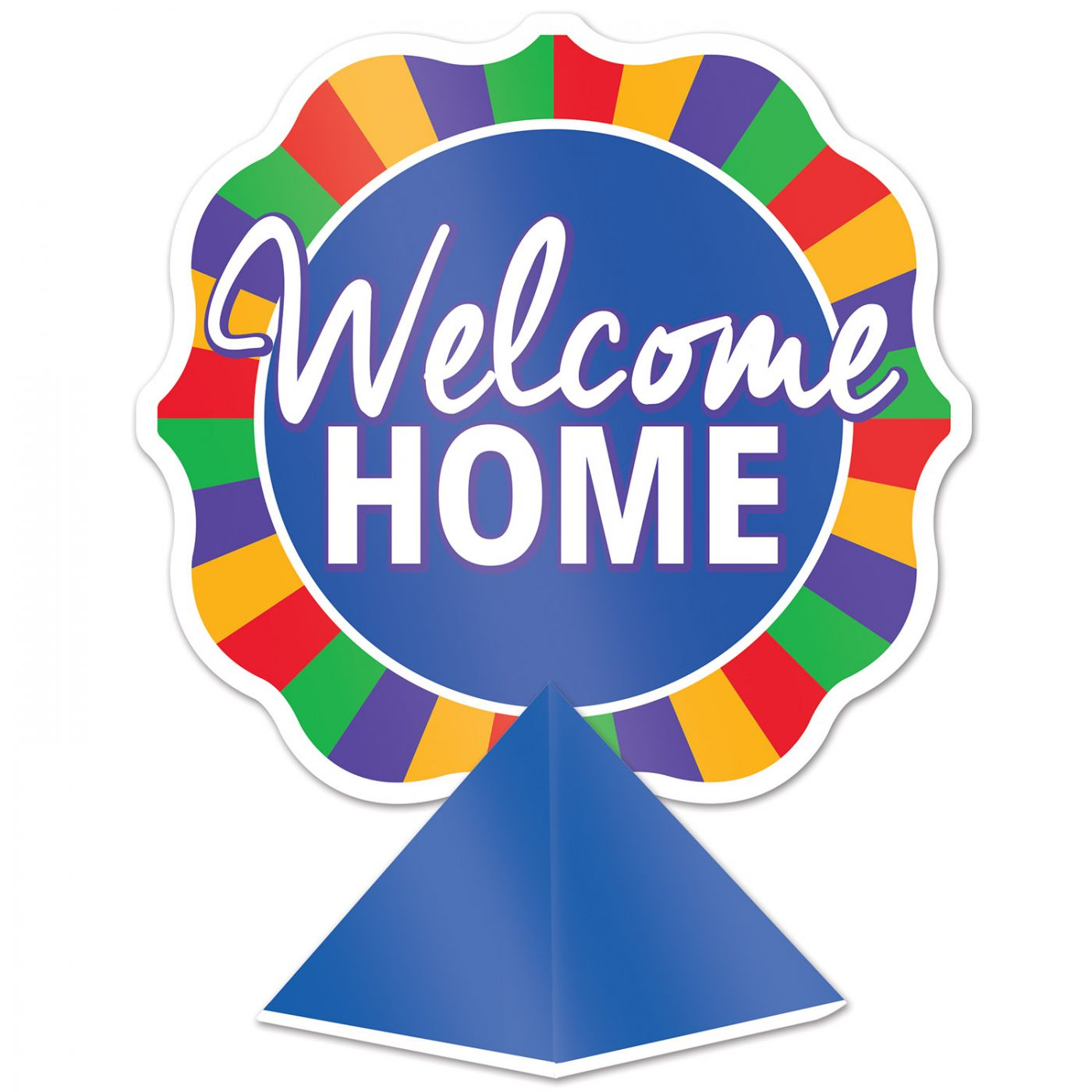 Image of 3-D Foil Welcome Home Centerpiece