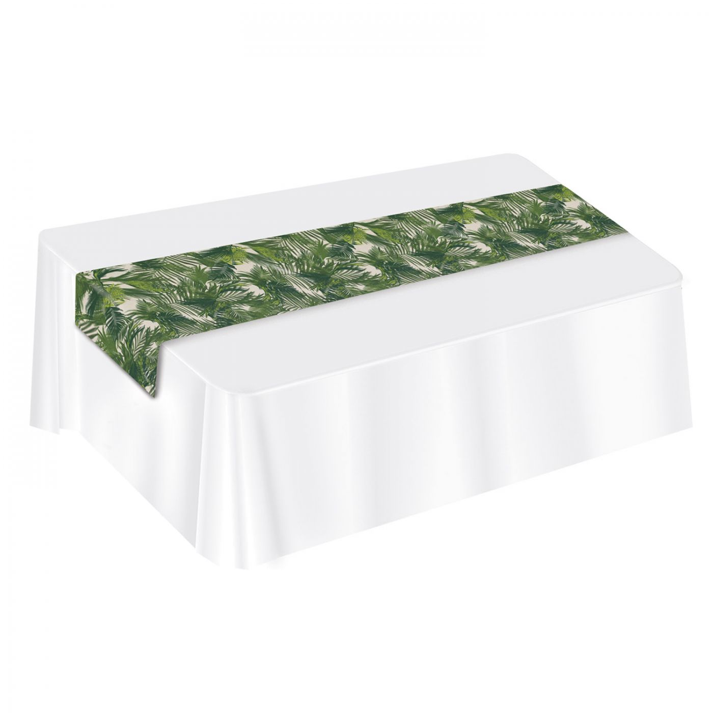 Palm Leaf Fabric Table Runner image