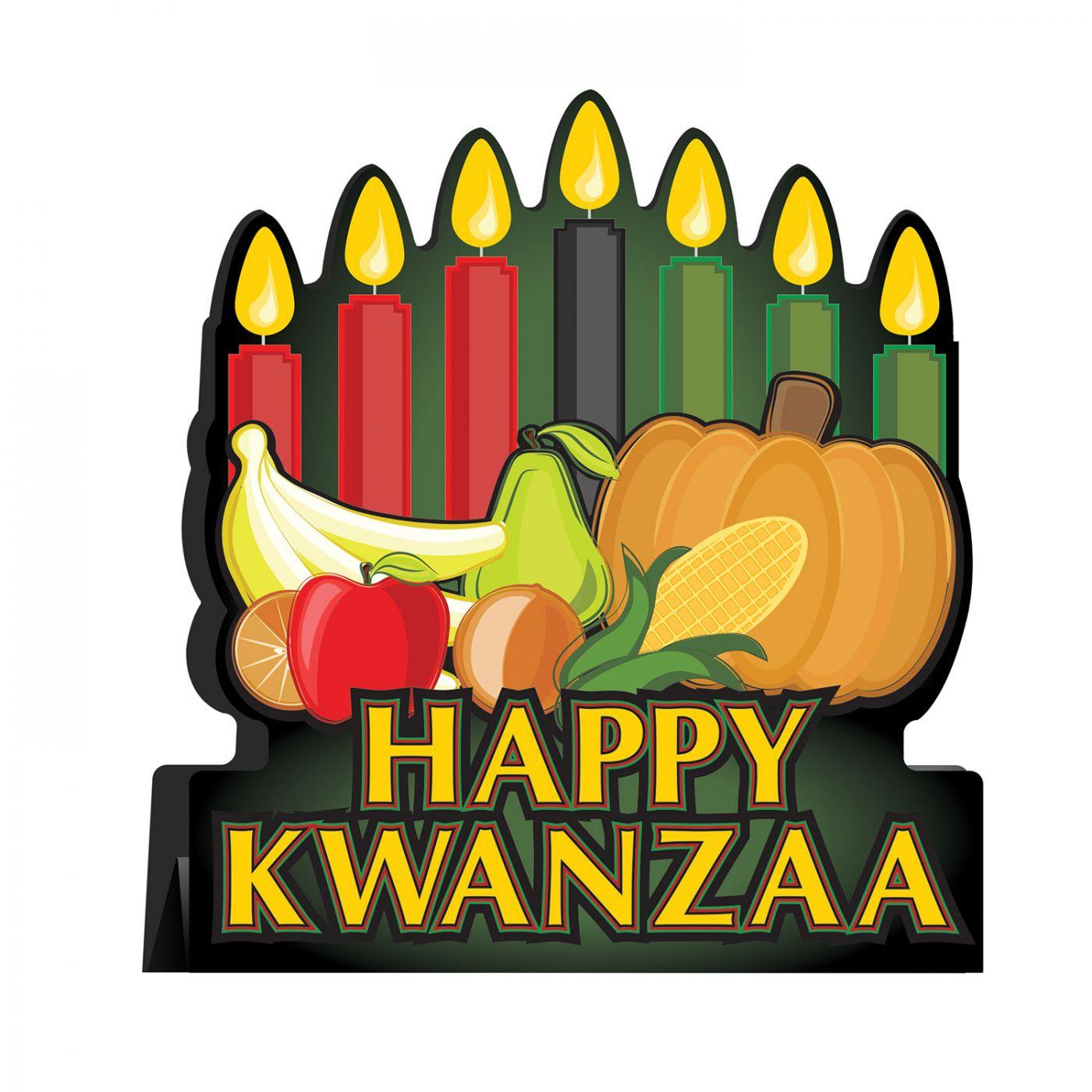 Image of 3-D Happy Kwanzaa Centerpiece