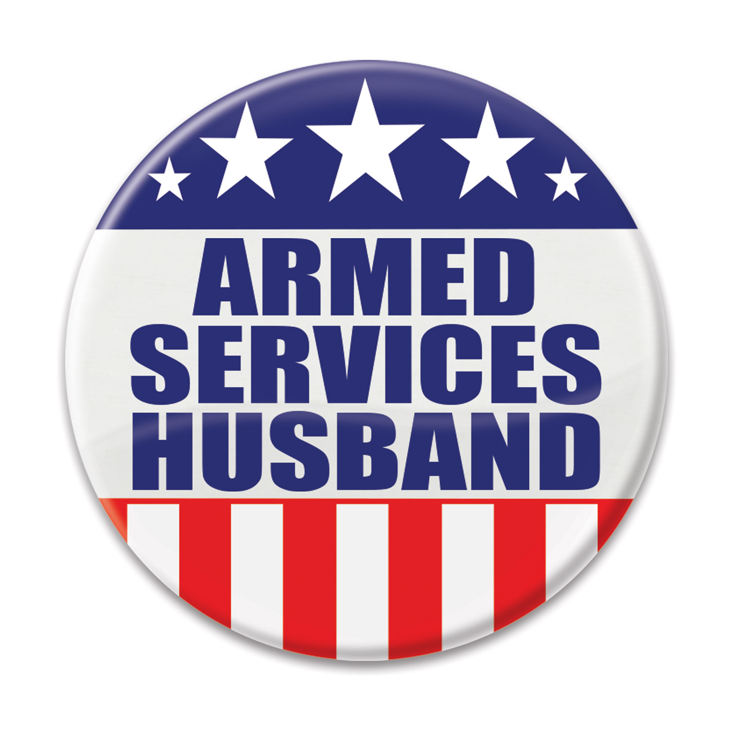 Image of ARMED SERVICES HUSBAND BUTTON (6)